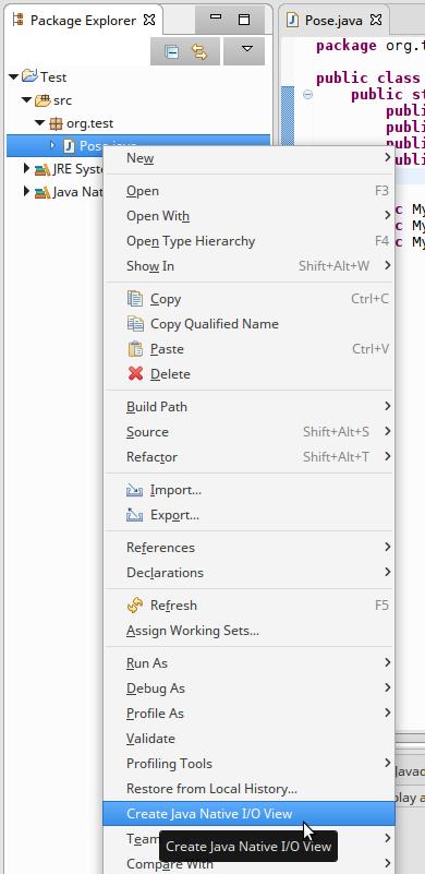 Java Native I/O - Eclipse Example